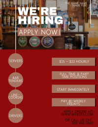 Bartender / Now Hiring Flyer Template