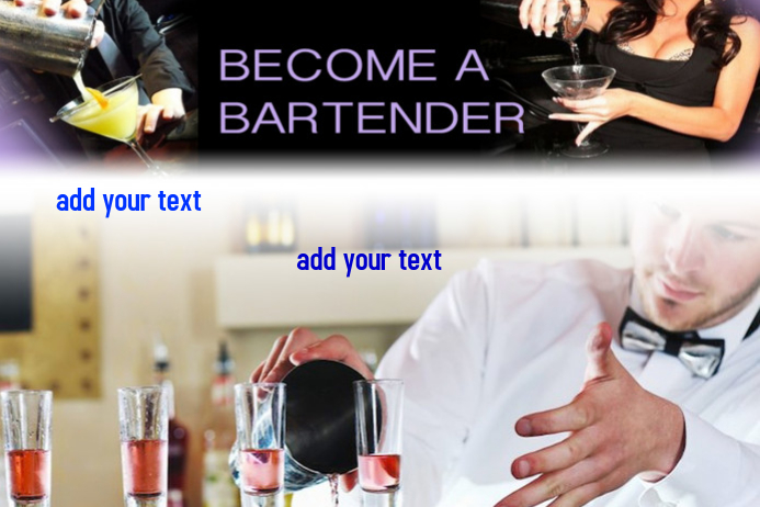 bartender template postermywall