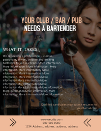 Bartender Wanted Flyer Template