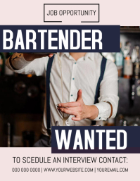 Bartender Wanted Job Flyer Template