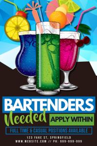 Bartenders Needed Poster