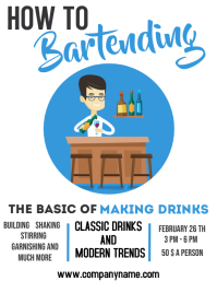 Bartending lessons infographic flyer