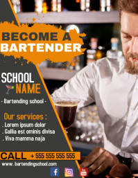 Bartending school flyer advertisement