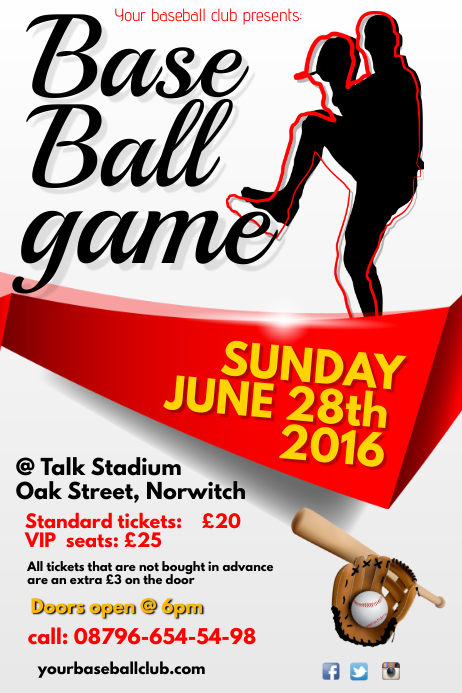 Base Ball Game Poster