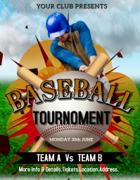 Baseball,event,sports,cricket Flyer (US-Letter) template