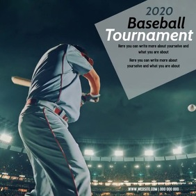 baseball AD DIGITAL VIDEO SOCIAL MEDIA Instagram na Post template