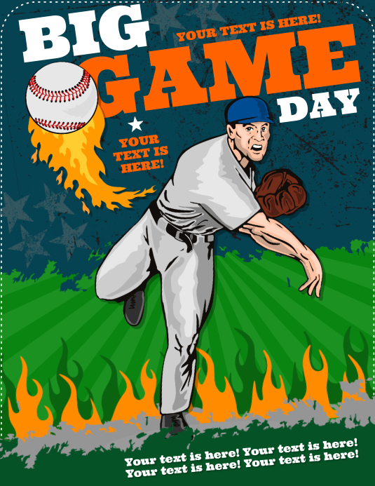 BASEBALL BIG GAME FLYER