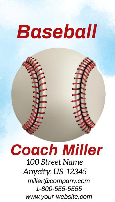 Baseball Business Card Kartu Bisnis template