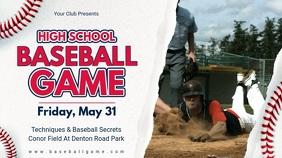 Baseball Camp Advertisement Banner