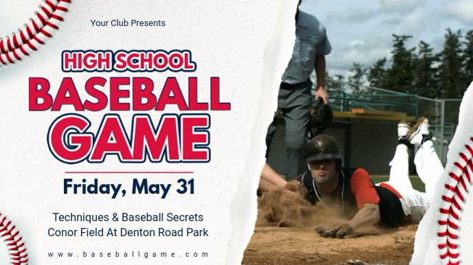 Baseball Camp Advertisement Banner