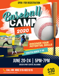 Baseball Camp Flyer Poster