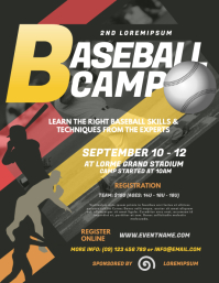Baseball Camp Flyer Template