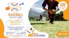 Baseball Camp Registration Display Video Banner