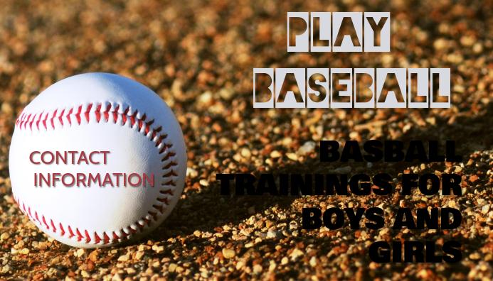 Baseball Card Kartu Bisnis template
