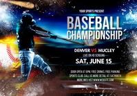 baseball championship flyer A4 template
