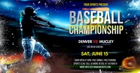 baseball championship flyer Facebook Ad template