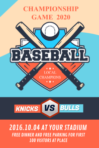 Baseball Championship Poster Iphosta template