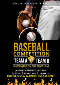 Baseball Competition flyer A4 template