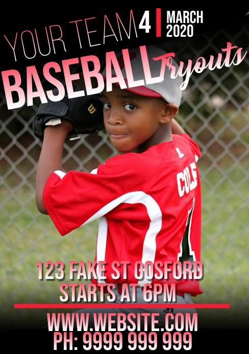 baseball A5 template