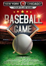baseball A4 template
