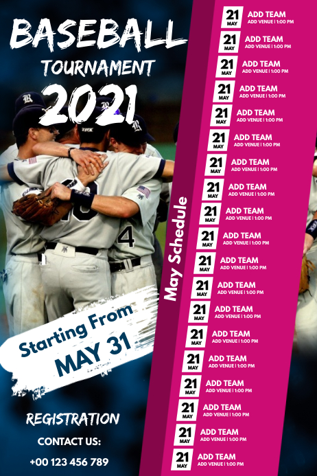 Baseball Plakat template