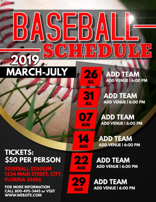 Baseball Рекламная листовка (US Letter) template