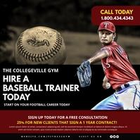 Baseball Publicación de Instagram template