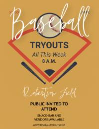 BASEBALL Flyer (US Letter) template