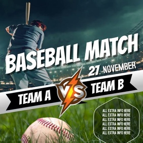 BASEBALL EVENT AD TEMPLATE Square (1:1)