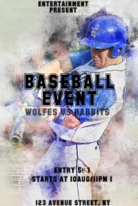 Baseball event flyer template