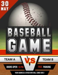 baseball flyer, baseball game, baseball 传单(美国信函) template