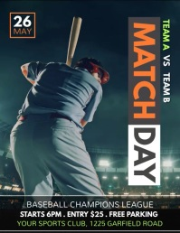 baseball flyer, baseball game, baseball template