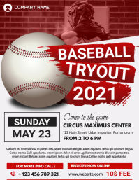 baseball flyer poster advertising template
