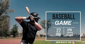 BASEBALL GAME AD SOCIAL MEDIA TEMPLATE delt Facebook-billede