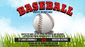 Baseball Game Twitter Post template