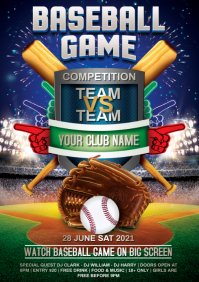 baseball game A4 template