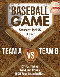 Baseball Game Flyer (US Letter) template