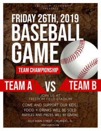 Baseball Game Flyer