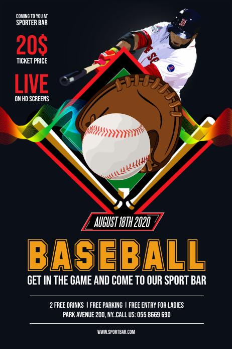 Baseball Game flyer