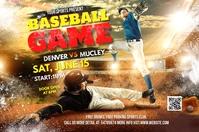 baseball game flyer 横幅 4' × 6' template