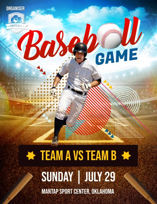 Baseball Game Flyer Poster