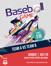 Baseball Game Flyer Poster Template