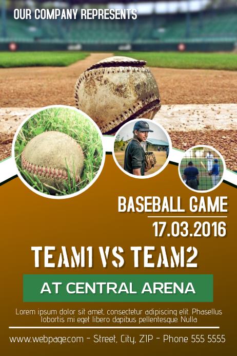 Baseball-Spiel Flyer Vorlage-Vorlage | PosterMyWall