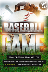 customizable design templates for baseball flyer template postermywall