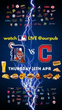 Baseball Game Instagram Post Digitale Vertoning (9:16) template