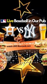 Baseball Game live in Pub Digitale Vertoning (9:16) template