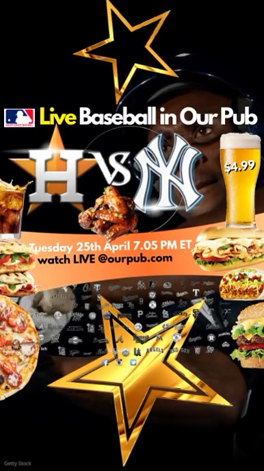 Baseball Game live in Pub