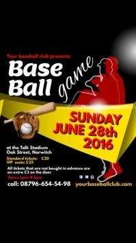 Baseball Game Template