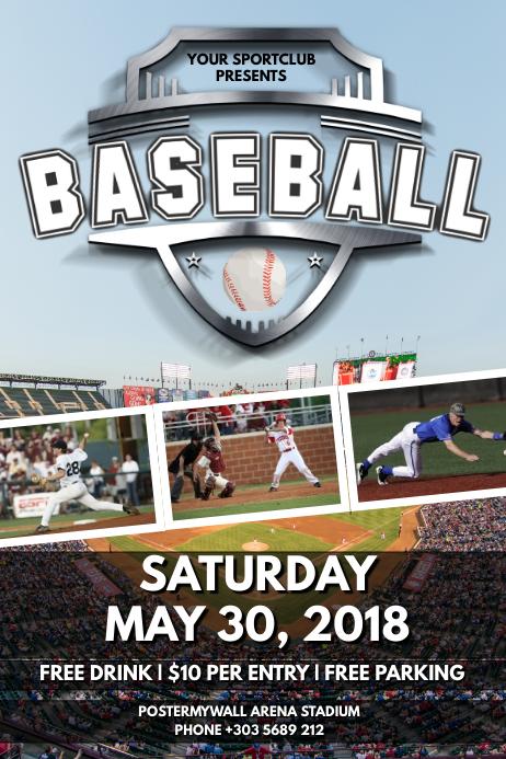 Baseball Game Poster template