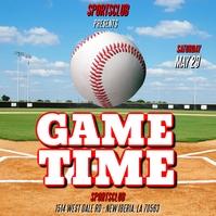 BASEBALL GAME TIME FLYER TEMPLATE Sampul Album